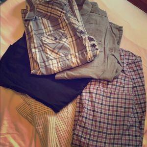 Bundle of men's casual button ups